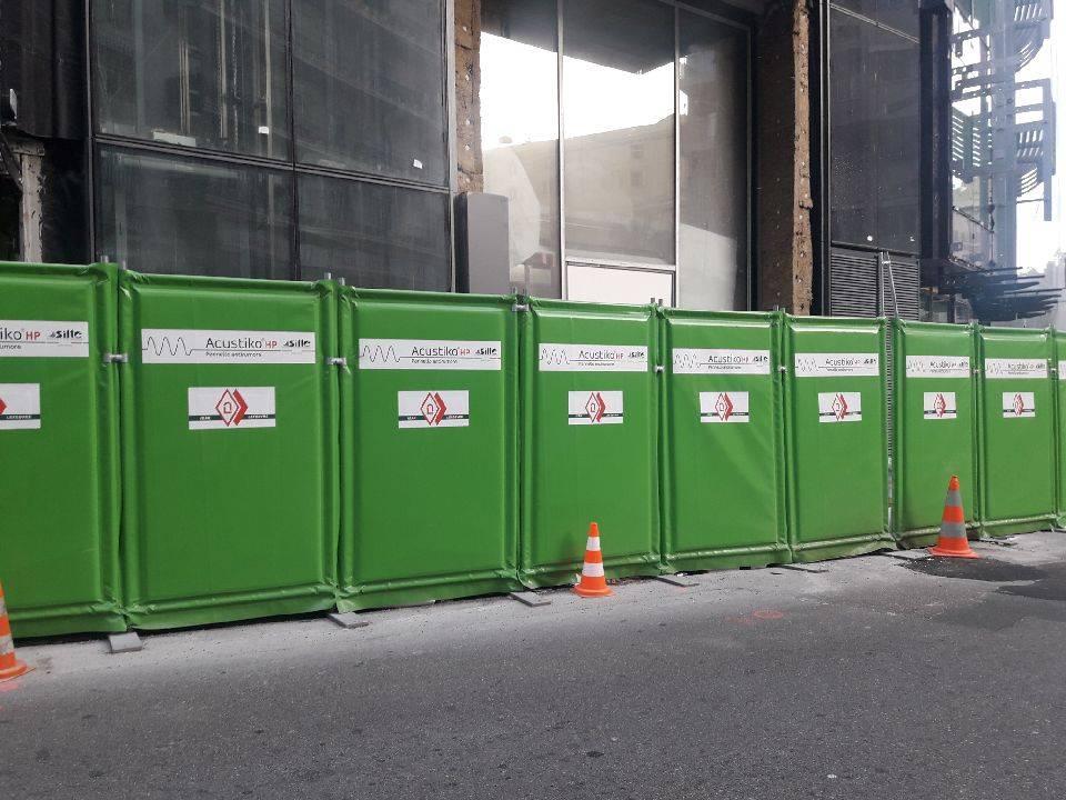 Clôture De Sécurité Mobile De Chantier Tp Semi Bardée Semi Grillagée